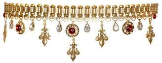 Kenneth Jay Lane Antique Gold Heraldic Charm Belt