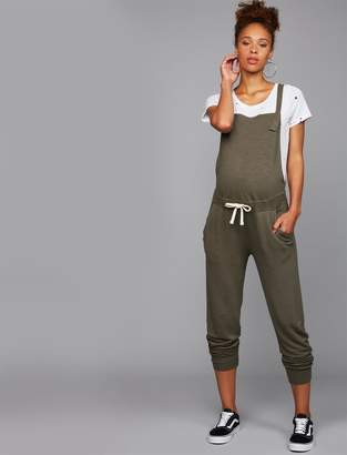 Monrow Pea Collection Tie Front Maternity Overall