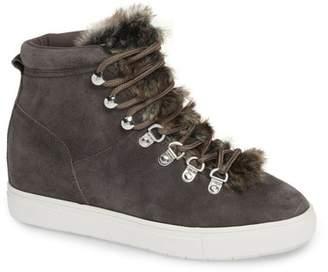 ef5726dd684 Steve Madden Steven By Kalea-F Faux Fur Hidden Wedge Sneaker