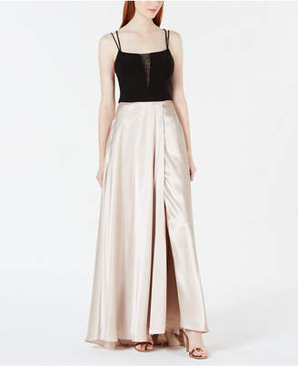 Blondie Nites Juniors' Illusion Colorblocked Gown