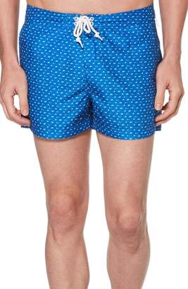 Original Penguin Triangle Print Swim Trunks