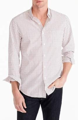 J.Crew Slim Fit Stretch Secret Wash Tattersall Sport Shirt