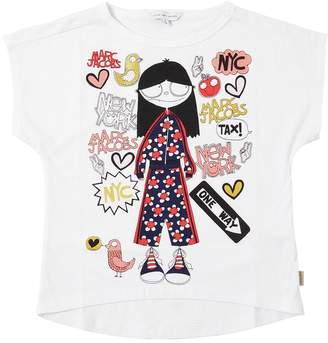 Little Marc Jacobs Printed Cotton Blend Jersey T-Shirt