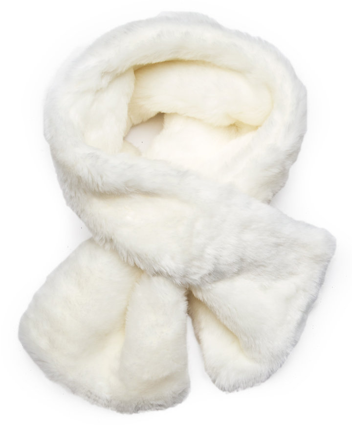 Faux fur foulard