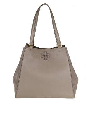 Tory Burch mcgraw Mixed Leather Shoulder Bag In Leather