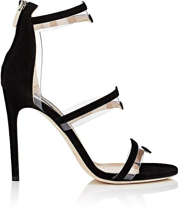 Sergio Rossi Women's Suede & PVC Multi-Strap Sandals