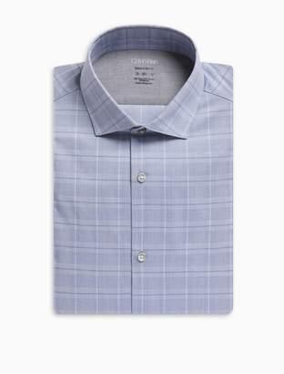 Calvin Klein Extreme Slim fit glen plaid dress shirt