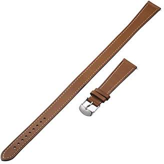 Michele MS18BX270216 18mm Brown Genuine Leather Watch Strap