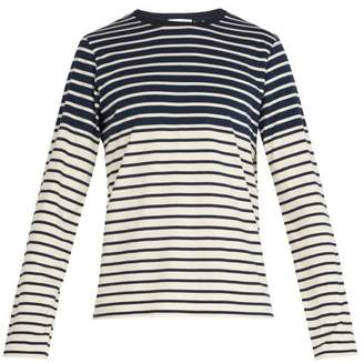 J.W.Anderson Striped Cotton Shirt - Mens - Navy