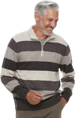 Haggar Men's Classic-Fit Fine-Gauge Quarter-Zip Sweater