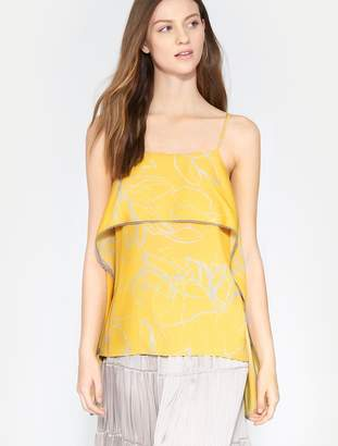 66a9e30c5a3a3 Free Shipping at Halston Heritage · Halston Printed Flowy Drape Cami Top