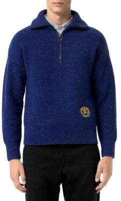 Burberry Trenton Ribbed Half-Zip Sweater