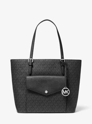 MICHAEL Michael Kors Jet Set Large Logo Pocket Tote Bag