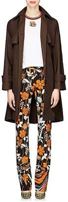 Prada Women's Tech-Taffeta Trench Coat - Brown