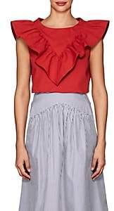 Atlantique Ascoli Women's Vendredi Cotton-Linen Blouse - Red