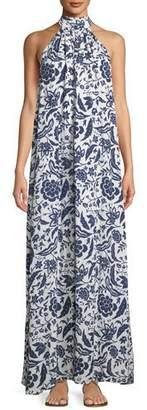 Rachel Pally Martine Crinkled Halter Dress