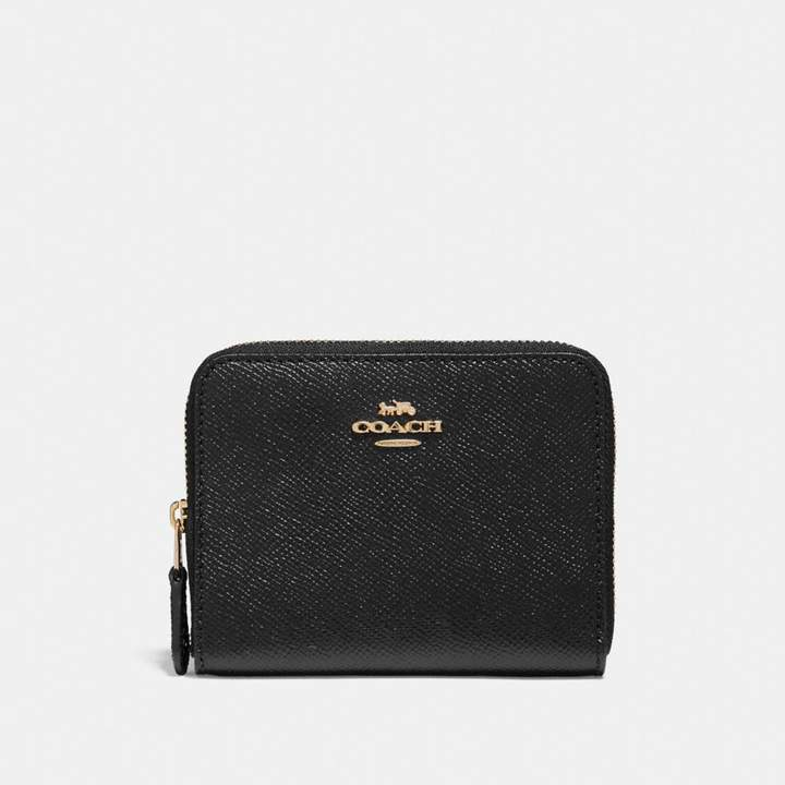 Coach New YorkCoach Small Zip Around Wallet - BLACK/LIGHT GOLD - STYLE