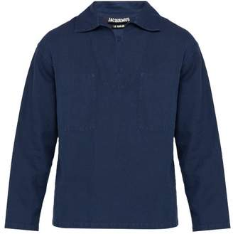 Jacquemus Le Marin Linen Blend Top - Mens - Navy