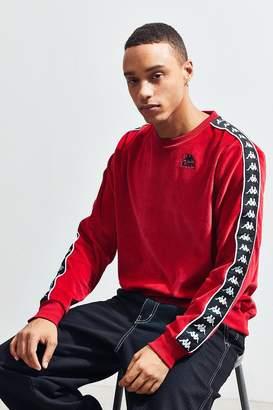 Kappa Velour Crew-Neck Pullover Sweatshirt