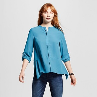 Mossimo Women's Convertible Sleeve Sharkbite Woven Top - Mossimo $22.99 thestylecure.com