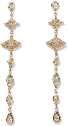 Jacquie Aiche Shining Star & Eye Diamond Drop Earrings
