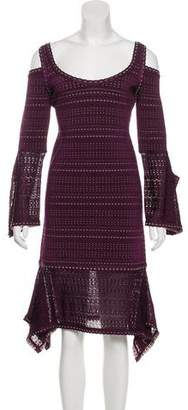 Herve Leger Kamryn Midi Dress w/ Tags