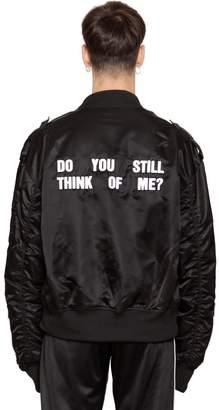 Misbhv Do You Still Nylon Bomber Jacket