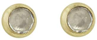 Melissa Joy Manning White Sapphire Stud Earrings - Yellow Gold
