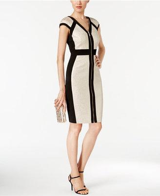 Jax Colorblocked Sheath Dress $138 thestylecure.com
