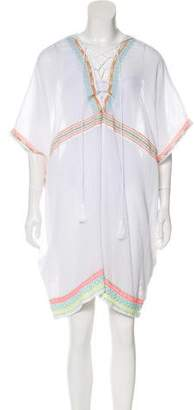 Vitamin A Embroidered Sheer Tunic Top w/ Tags