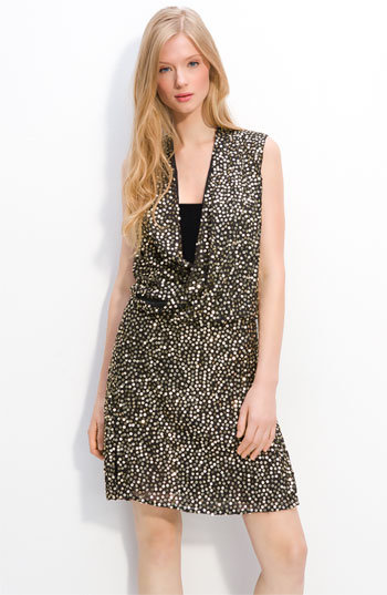 Diane von Furstenberg 'Issie' Sequin Faux Wrap Dress