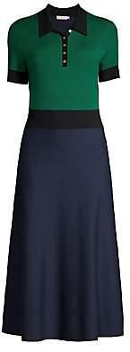 Tory Burch Women's Colorblock A-Line Sweater Dress