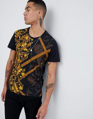 Versace t-shirt with baroque print