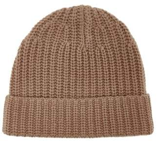 Joseph Ribbed Knit Beanie Hat - Womens - Camel