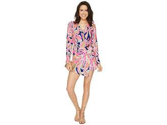 Lilly Pulitzer Tiki Wrap Romper Women's Jumpsuit & Rompers One Piece