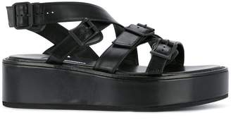 Ann Demeulemeester strapped platform sandals