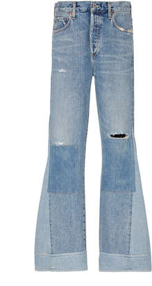 Citizens of Humanity Rhiannon Patchwork High-Rise Flared Jeans