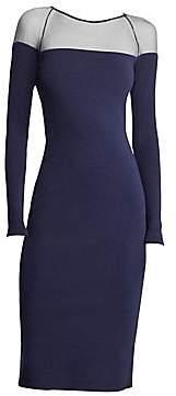 Ralph Lauren Women's Long Sleeve Sheer Yoke Dress