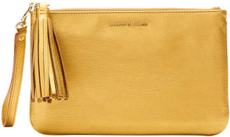 Dooney & Bourke Metallic Leather Carrington Wristlet