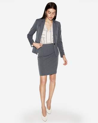 Express High Waisted Herringbone Clean Pencil Skirt