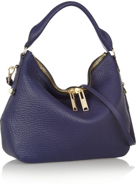 Burberry Shoes & Accessories Textured-leather shoulder bag