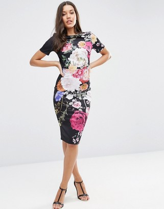 ASOS Placed Floral Print T-Shirt Dress $78 thestylecure.com
