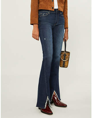Paige Lou Lou mid-rise distressed flared jeans