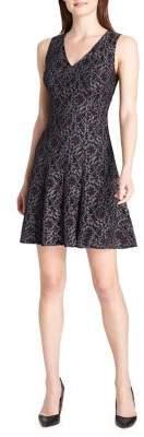 Tommy Hilfiger Garden Lace V-Neck Fit-&-Flare Dress