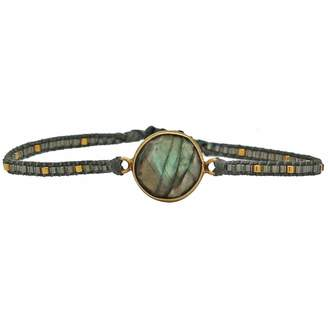 LeJu London - Labradorite Stone Handwoven Bracelet
