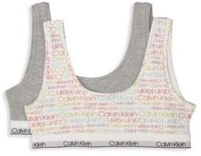 Calvin Klein Little Girl's& Girl's Two-Pack Classic Crop Bras