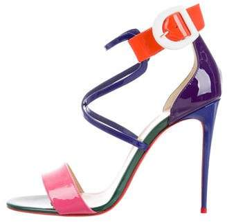 Christian Louboutin Choca 100 Patent Leather Sandals