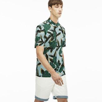 Men's L!ve Slim Fit Tropical Print Shirt $95 thestylecure.com
