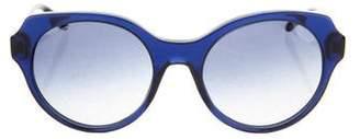 Miu Miu Gradient Round Sunglasses