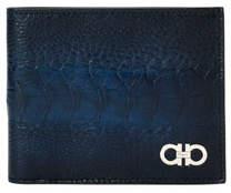 Salvatore Ferragamo Men's Ostrich-Leg 8-Card Bi-Fold Wallet